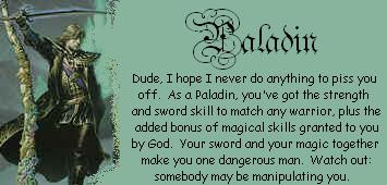 You are a Paladin!