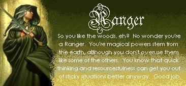 You are a Ranger!